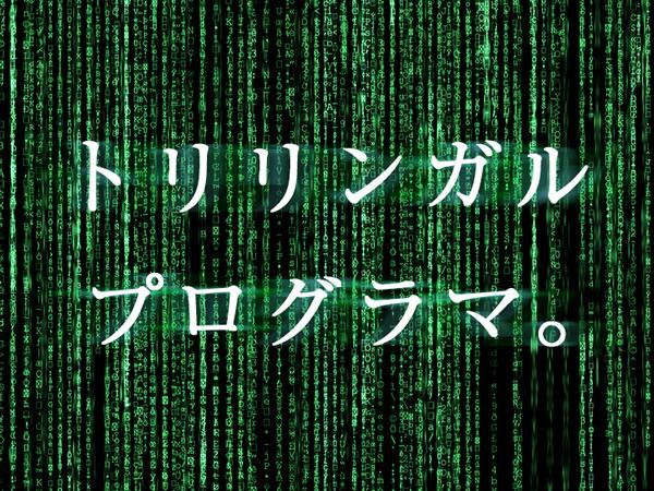 プログラミング言語トリリンガル採用